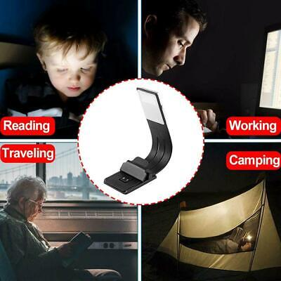 Clip On Book Reading Light Lamp LED for Bed Portable Night Travel Small USB New