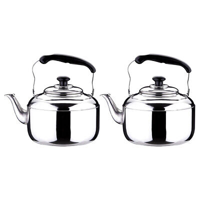 2x Whistling Kettle Stainless Steel Teapot for Stove Top Fast Boil Water/Coffee