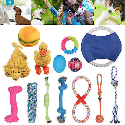 Dog Puppy Toy Rope Teething Chew Playtime And Teeth Cleaning Cotton Rope Toys Uk
