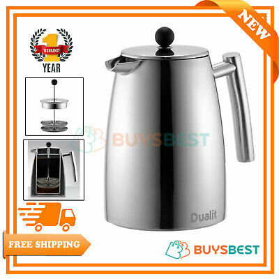 Dualit Dual Filter Cafetiere Polished Stainless Steel 85120
