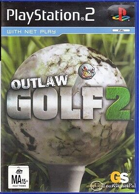 Outlaw Golf 2 (Sony PlayStation 2, 2004) PS2 game PAL analog control