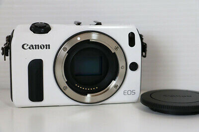Canon EOS M 18.0MP Digital Camera - White Body Mirrorless w/Charger Battery