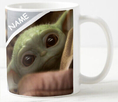 Baby Yoda Coffee Mug Personalised tea cup gift funny cute quote