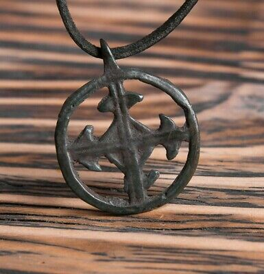 Odin's Ancient Cross - Viking Amulet  Sun Cross Pendant Authentic Artifact 900AD