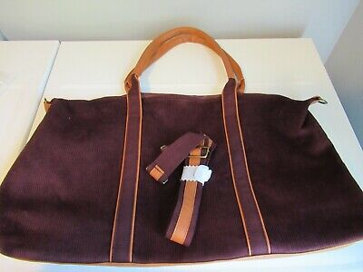 Corduroy Dark Brown Overnight Carry On Duffle Bag Luggage Tote-New  - DSW