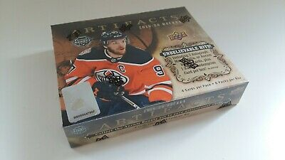 2019-20 Upper Deck Artifacts Hockey 8 Pack Box NIP Autographs Relics Possible