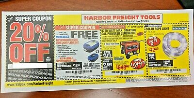 Harbor Freight 20% Off Single Item Coupon - Home Depot, Lowe's! ~ Exp. Feb 1