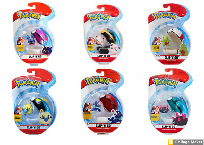 Pokemon Clip N Go , Multiple Variety! Free Shipping! NEW!