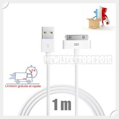 Cable De Charge Usb Data Synchro 30 Broches Pour Apple Iphone 4,4S,3G