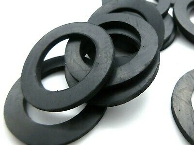 """Barbell & Dumbell 1"""" ID Thick Rubber Washers for 1 1/2"""" OD. 1/8"""" Thick"""