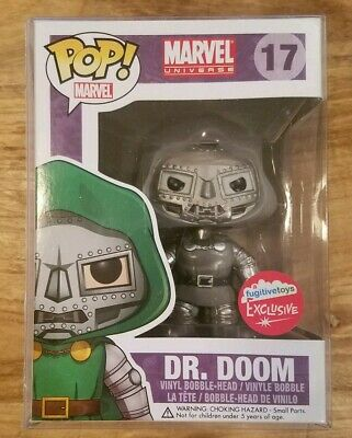 Funko Pop Marvel Dr. Doom (Black & White Fugitive Toys Exclusive) (NIB RARE HTF)