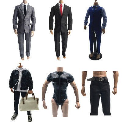ZY TOYS 1//6 Light grey Suit+Shirt Set for enterbay HOT action figure Body