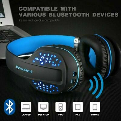 Wireless Gaming Headset Headphones Mic LED for Nintendo Switch PS4 Xbox one X UK