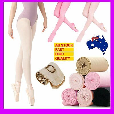 Children Girls Ballet Footed Tights Stockings Dance Footed Tights Pantyhose Pink