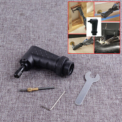 Right Angle Converter Rotary Adapter Attachment Fit for Dremel Electric Grinder