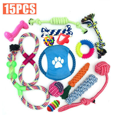 Dog Puppy Toy Rope Xmas Christmas Bundle And Teeth Cleaning Cotton Rope Toys Uk