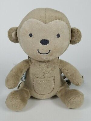 Carters Child of Mine Monkey Toddler Harness Safety Leash Plush Backpack Brown