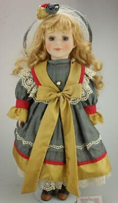 Vintage Collectible Memories Porcelain Doll Lauren on stand with Hang Tag KC515