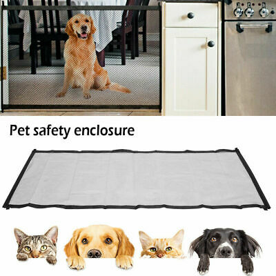 Retractable Dog Pet Gate Safety Guard Folding Baby Toddler Stair Gate Isolation