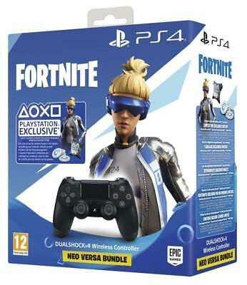 Playstation 4 Dualshock 4-Controller Schwarz Neo Versa Bundle Fortnite Add-On