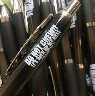 Funny Sweary Novelty Profanity Pens. Do not chew it's been up my a*se! FREE POST