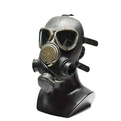 Soviet Russian gas mask GP7VM PMK Black respiratory with 2 Filter Connector