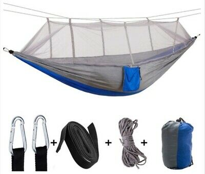 Camping Hammock With Mosquito Net Double 2 Person Portable Swing Hanging Bed