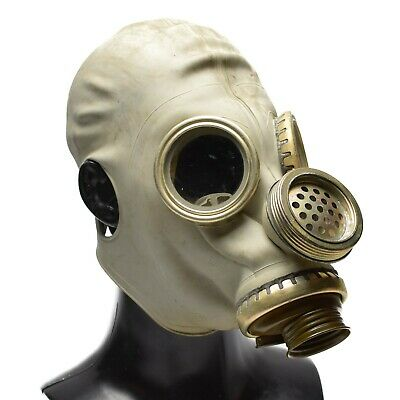 Soviet Russian Gas mask GP-5M Grey Mask Surplus respiratory 1970's