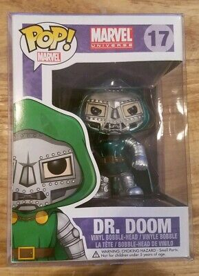Funko Pop Marvel Dr. Doom (METALLIC EXCLUSIVE) (NIB RARE HTF)