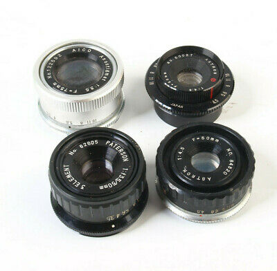 Job lot of Enlarging Lenses - fungus/cloudy - need a clean