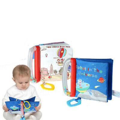 Intelligence Development Cloth Bed Cognize Book Educational Kid Toy Baby Soft US