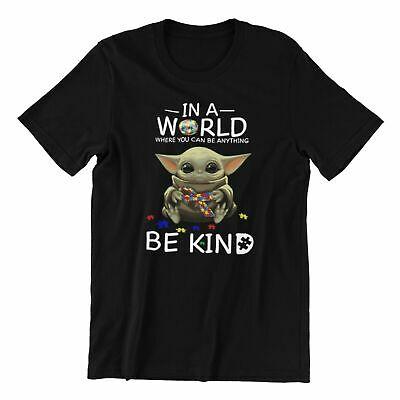 Mens Ladies Kids Adult Cute T-shirt Baby Yoda Be Kind Adorable Gift T-shirt