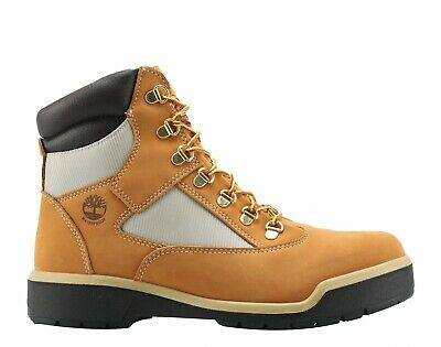 """Mens Timberland Classic 6 Inch 6"""" Hiking Field Boots New Wheat A18QV 10.5"""