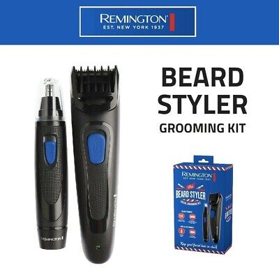 Remington Battery Beard Trimmer Nose & Ear Grooming Kit Cordless Rechargeable