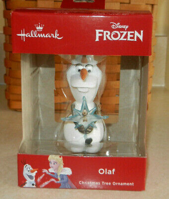 Hallmark 2018 Disney Frozen ~ Olaf ~ Christmas Ornament Red Box
