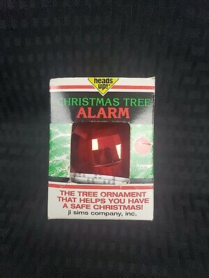 Christmas Tree Fire Alarm New In Box NOS Vintage
