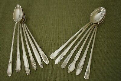 MIX and MATCH 12 silverplate ICED TEA SPOONS  Rogers, Oneida, Holmes & Edwards +