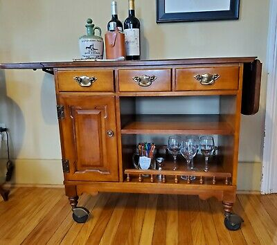 Tell City Mid-century Bar Cart Young Republic Hard Rock Maple