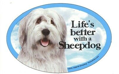 """Life/'s better with a West Highland Terrier 6/"""" x 4/"""" Oval Magnet Made in the USA"""