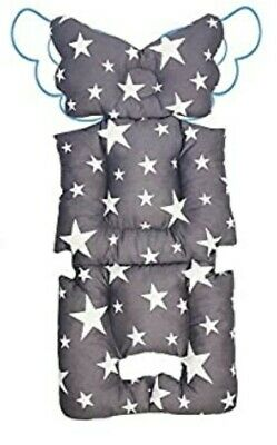 Stroller Liner Insert Car Seat Liner Cover, Infant Cotton Newborn (gray stars)