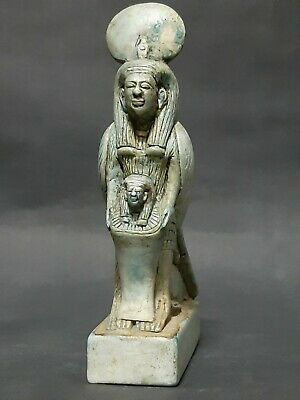 Rare ANCIENT EGYPTIAN ANTIQUES Carved Faience Stone Statue BA Soul Egyptian BC