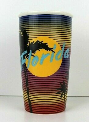 Starbucks Florida Miami Vice Double Wall Ceramic Travel Mug Tumbler 12 fl oz New