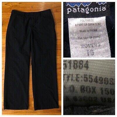 Patagonia Women's Inter-Continental Black Hiking Camping Outdoors Trail Pants 10