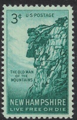 Scott 1068- New Hampshire, Old Man of the Mountains- MNH 3c 1955- unused mint