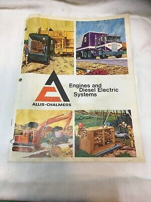 Rare Vintage ALLIS CHALMERS Engines and Diesel Electric Systems Catalog