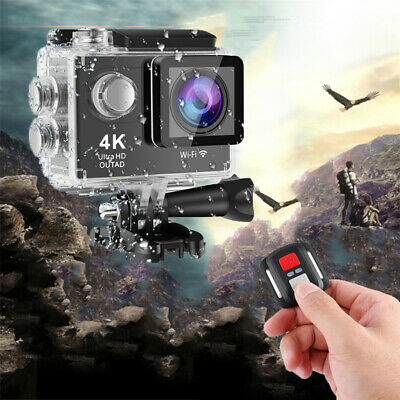 OUTAD WiFi Sports 4K Ultra HD 30M Waterproof Action Camera Camcorder Helmet UK