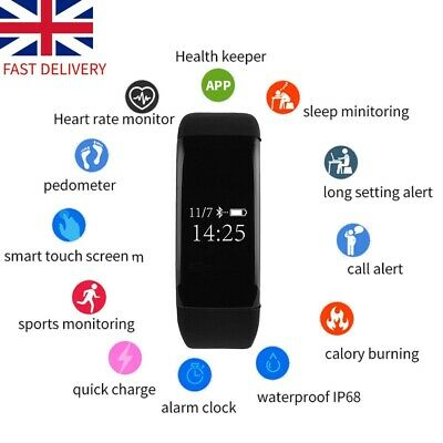 Fitness Smart Watch Bracelet Heart Rate Tracker Women Men Activity Android iOS T