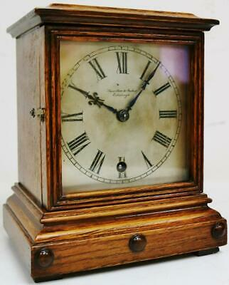 Superb Antique German W & H 8 Day Cube Style Rosewood Timepiece Mantel Clock