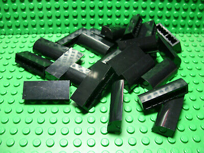 LEGO Lot of 4 Green 2x1x1 1//3 Curved Top Bricks