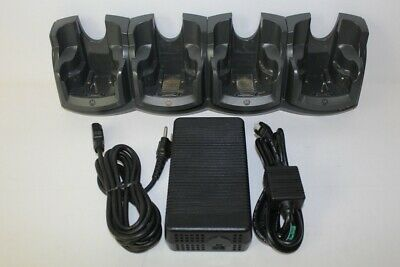 Motorola Symbol 4 Slot Battery Charging Cradle Dock with Adapter CRD7000-4000ER